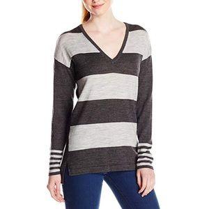 Merino Stripe V-Neck Sweater